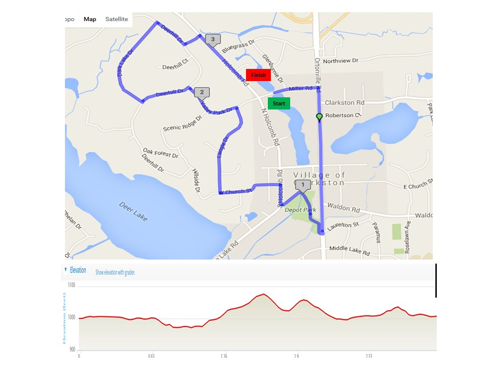 5k map and elevation
